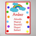 Rainbow Name Print