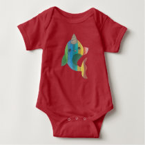 Rainbow Narwhal Baby Bodysuit