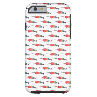 Rainbow Narwhal Pattern Tough iPhone 6 Case