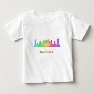 Rainbow Nashville skyline Baby T-Shirt