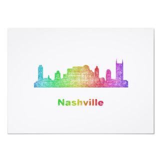 Rainbow Nashville skyline Card