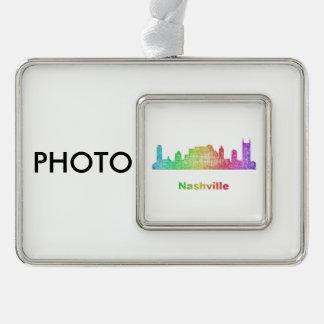 Rainbow Nashville skyline Ornament