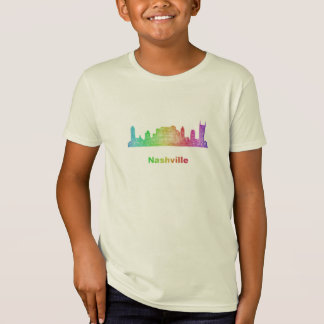 Rainbow Nashville skyline T-Shirt