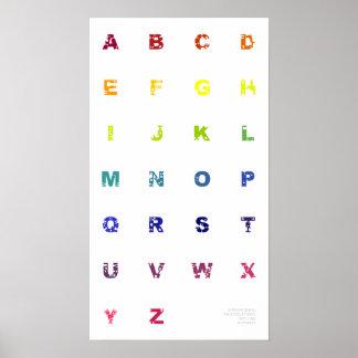Rainbow NATO Spelling Alphabet Print