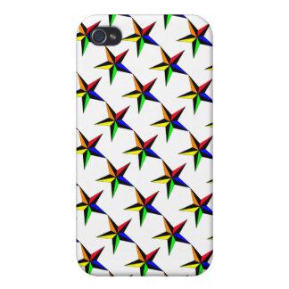 Rainbow Nautical Star iPhone 4 Cases
