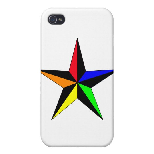 Rainbow Nautical Star iPhone 4 Cover