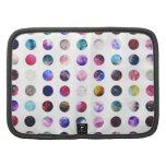 Rainbow Nebula Galaxy Girly Polka Dots Pattern Organizer