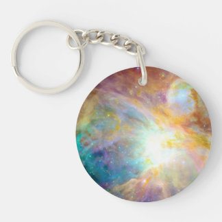 Rainbow Nebula Keychain