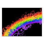 Rainbow Nebula Vector Rainbow Card