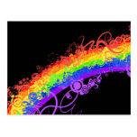 Rainbow Nebula Vector Rainbow Postcards