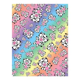 Rainbow nerd cow pattern letterhead