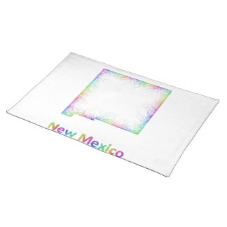 Rainbow New Mexico map Placemat