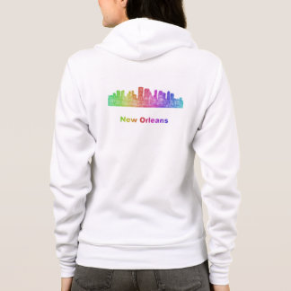 Rainbow New Orleans skyline Hoodie