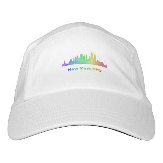 Rainbow New York City skyline Headsweats Hat
