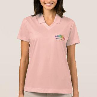 Rainbow New York City skyline Polo Shirt