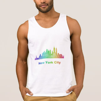 Rainbow New York City skyline Tank Top