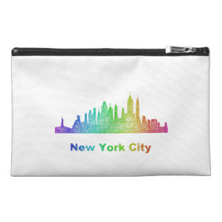 Rainbow New York City skyline Travel Accessory Bag