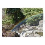 Rainbow Next to  Bridalveil Falls in Yosemite Card