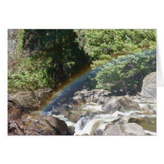 Rainbow Next to  Bridalveil Falls in Yosemite Greeting Card