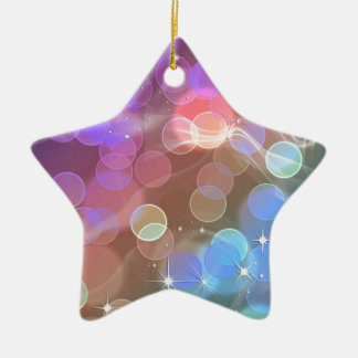 Rainbow night sky ornament