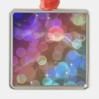 Rainbow night sky christmas ornament