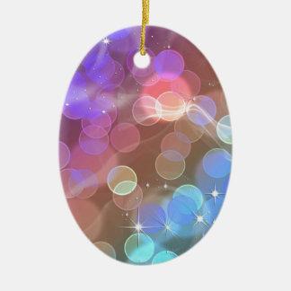 Rainbow night sky christmas ornaments