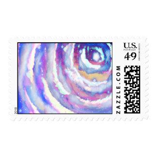 Rainbow Night Sky Postage Stamp