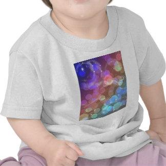 Rainbow night sky tee shirts
