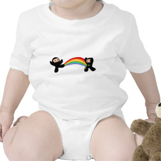 Rainbow Ninja Kick Tshirts