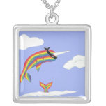 Rainbow Ninja Narwhal Necklace