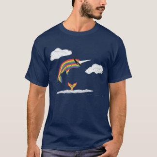 Rainbow Ninja Narwhal T-Shirt