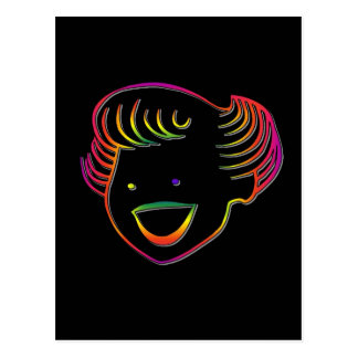 Rainbow Norma Jean Postcard