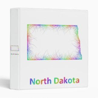 Rainbow North Dakota map 3 Ring Binder