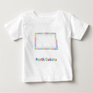 Rainbow North Dakota map Baby T-Shirt