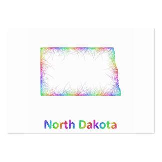 Rainbow North Dakota map Large Business Card