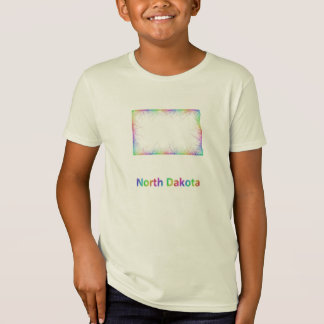 Rainbow North Dakota map T-Shirt