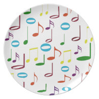 Rainbow Notes Plate