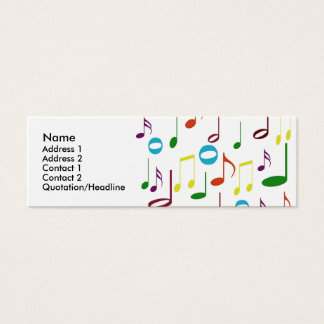 Rainbow Notes Profile Card