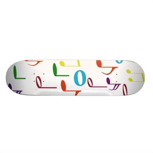 Rainbow Notes Skateboard