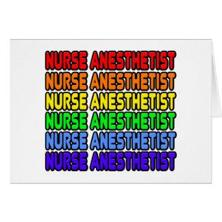 Rainbow Nurse Anesthetist Card