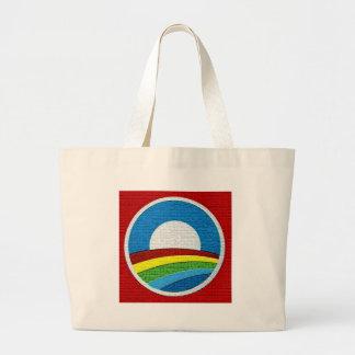 Rainbow Obama  Circle Design Canvas Bag