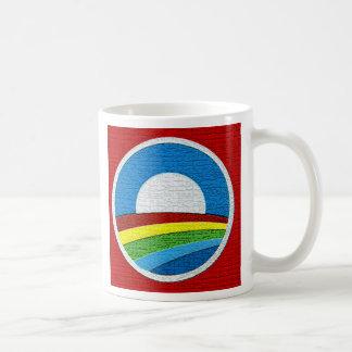 Rainbow Obama  Circle Design Classic White Coffee Mug