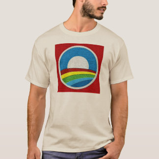 Rainbow Obama  Circle Design T-Shirt