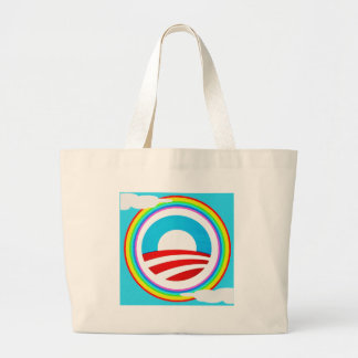 Rainbow Obama Marriage Equality Designs Large Tote Bag