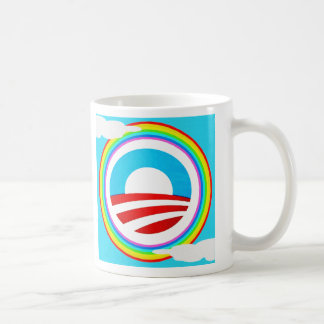 Rainbow Obama Marriage Equality Designs Classic White Coffee Mug