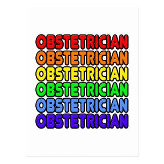 Rainbow Obstetrician Postcard