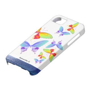 Rainbow Ocean Butterflies iPhone 5 Cases