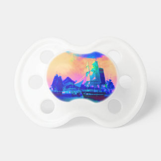 Rainbow Ocean Sky and Sailing Ships Pacifier