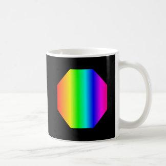 Rainbow Octagon Classic White Coffee Mug