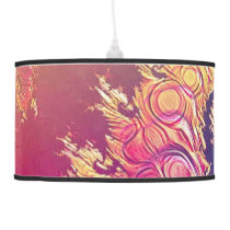 Rainbow Octopus Tentacles in a Fractal Spiral Hanging Lamp